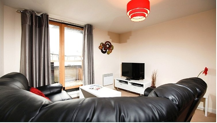 Comfortable living area in Priory Place Apartments - Citybase Apartments