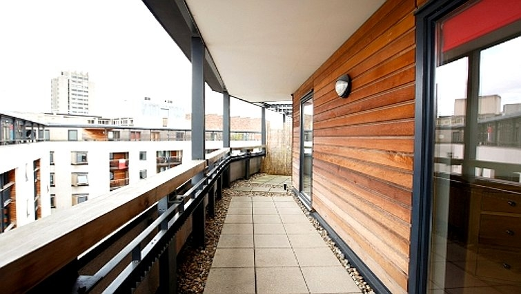 Scenic balcony in Priory Place Apartments - Citybase Apartments