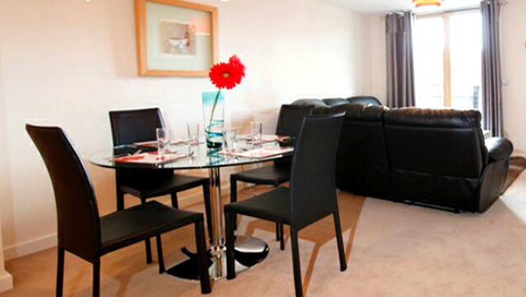 Modern dining area in Priory Place Apartments - Citybase Apartments