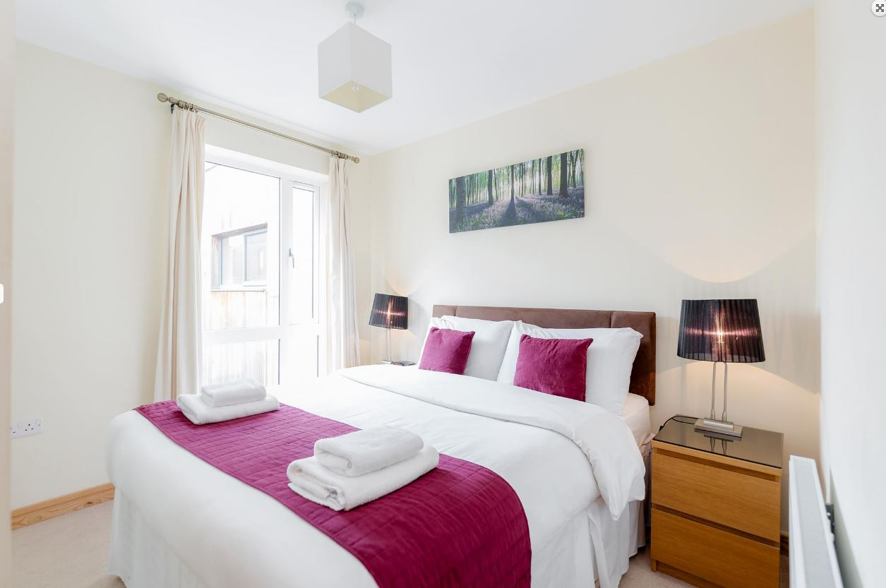 Bed at Westnye House Apartment, Centre, Guildford - Citybase Apartments