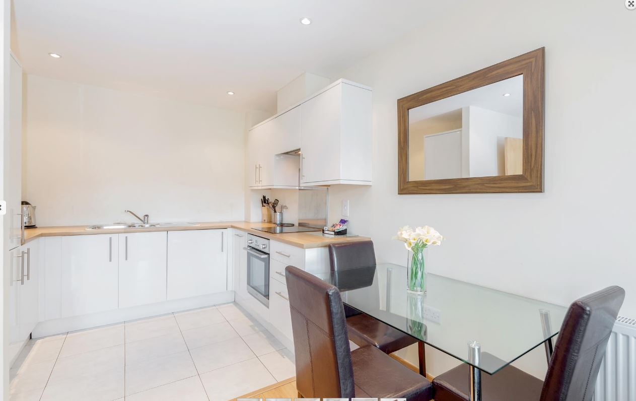 Dining area at Westnye House Apartment, Centre, Guildford - Citybase Apartments