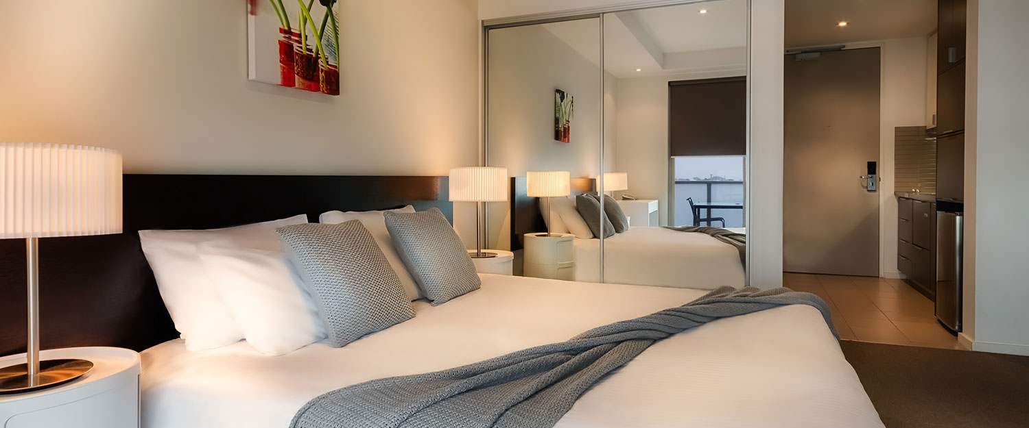Cosy bedroom at Caroline Serviced Apartments - Citybase Apartments
