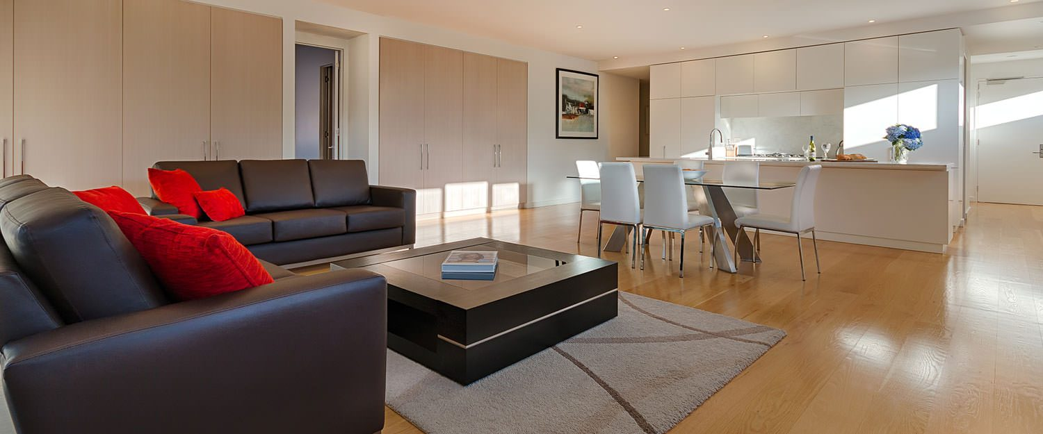 Living room at Caroline Serviced Apartments - Citybase Apartments