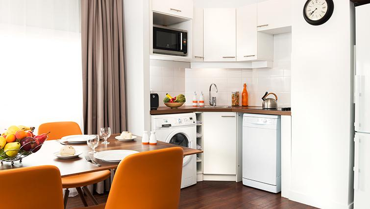 Modern kitchen in Citadines Lille Centre Apartments - Citybase Apartments