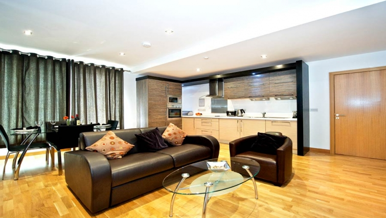 Incredible living area in Staycity Edinburgh West End - Citybase Apartments