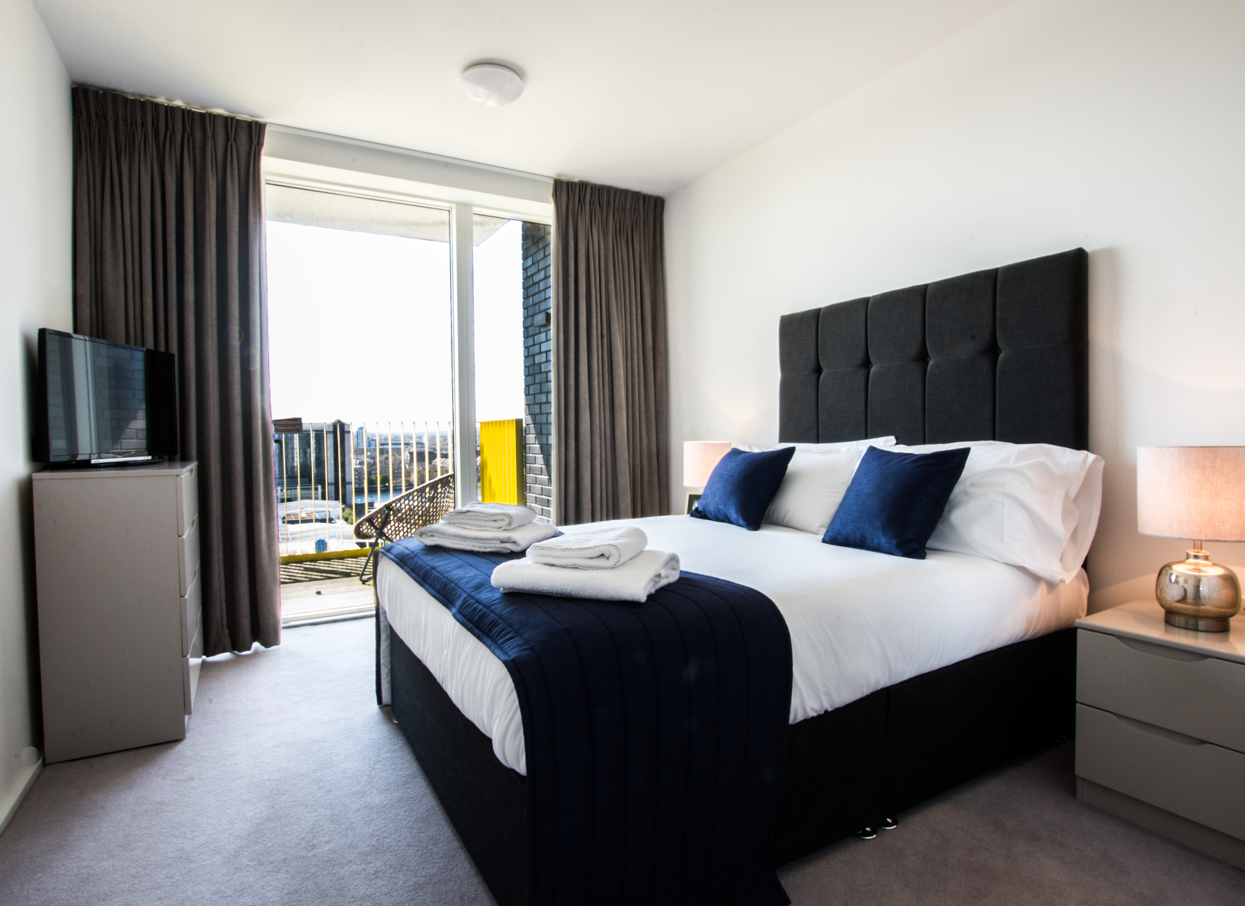Bedroom at Millharbour Apartments, Isle of Dogs, London - Citybase Apartments