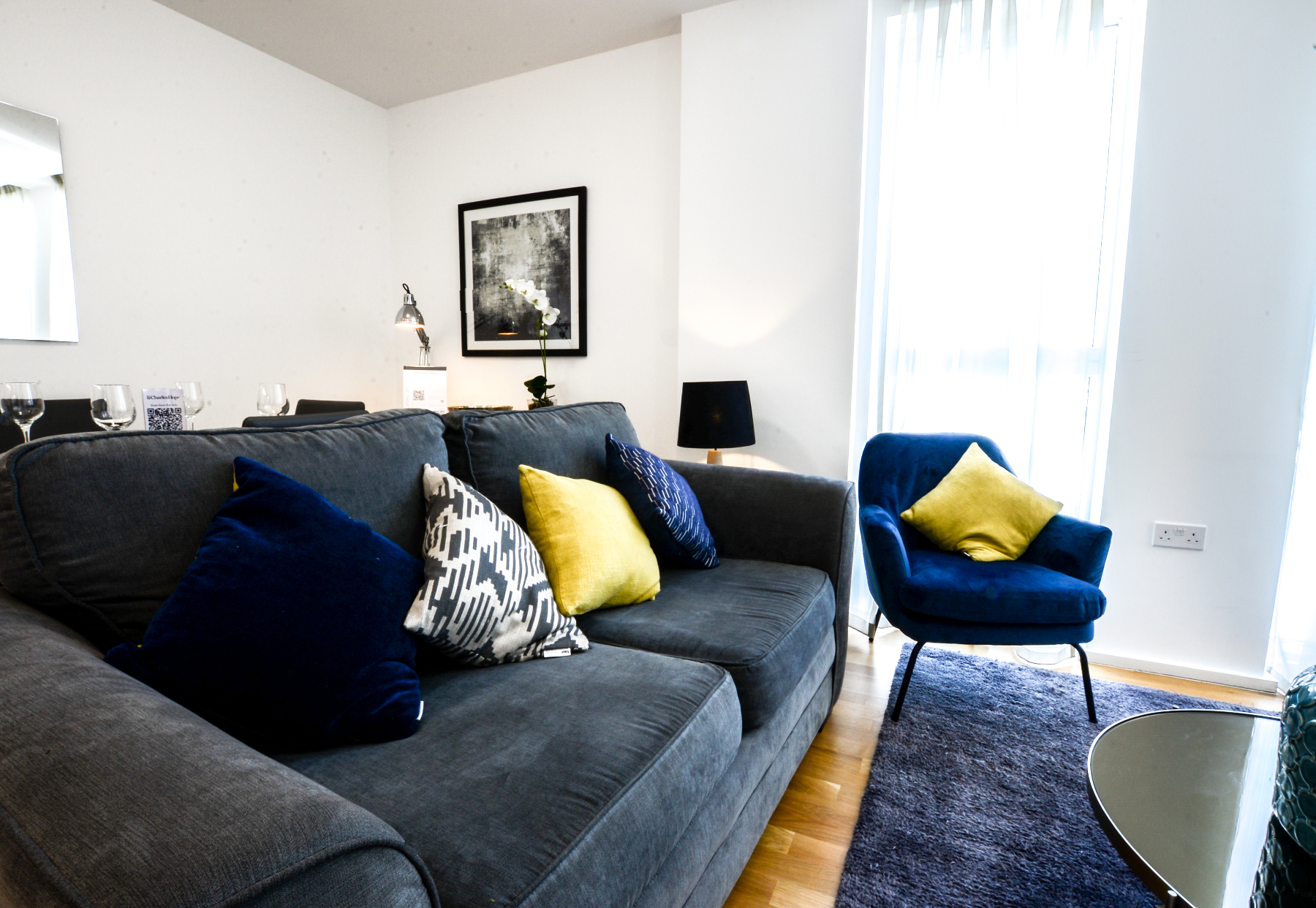 Sofa at Millharbour Apartments, Isle of Dogs, London - Citybase Apartments