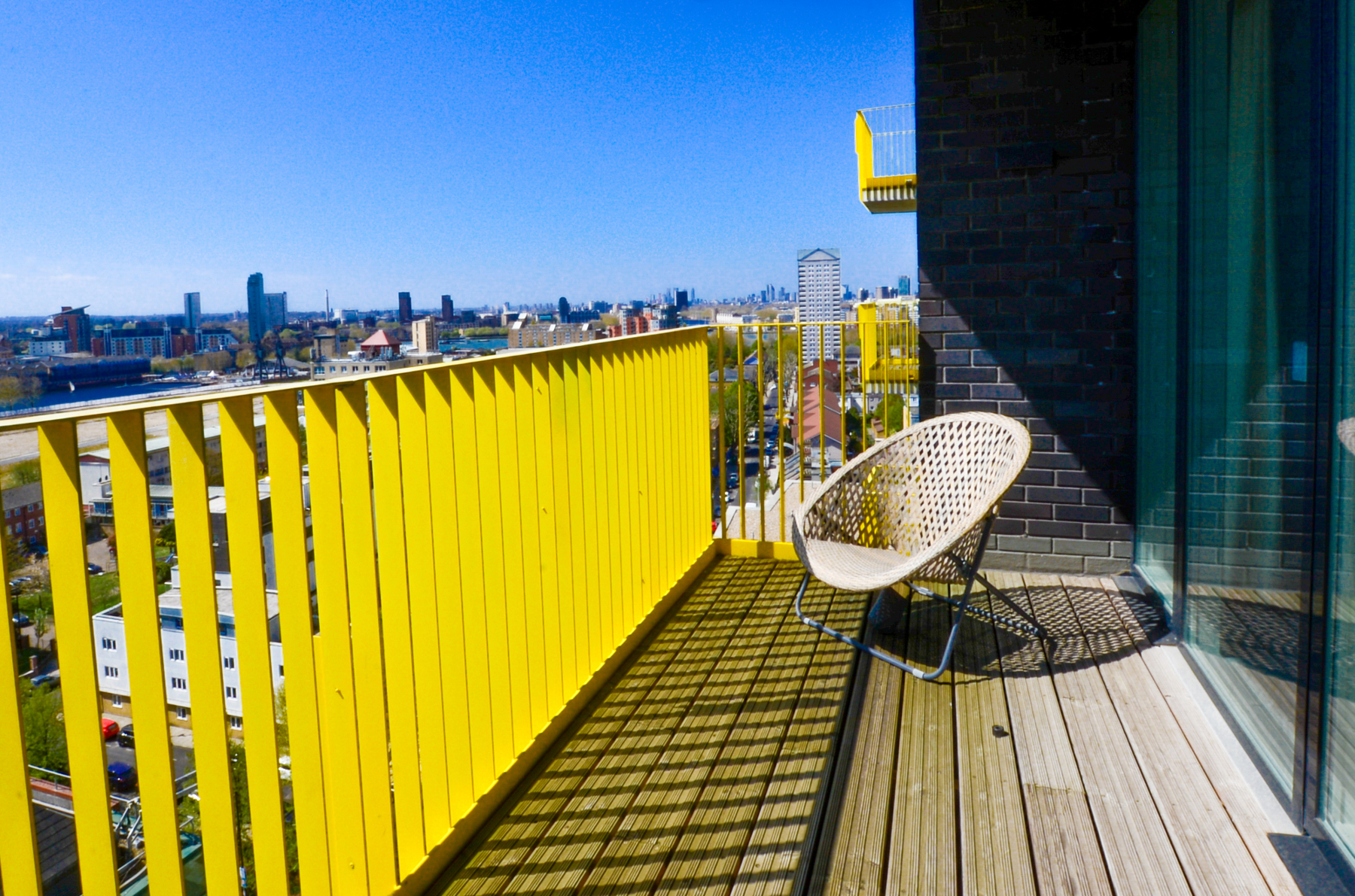 Balcony at Millharbour Apartments, Isle of Dogs, London - Citybase Apartments