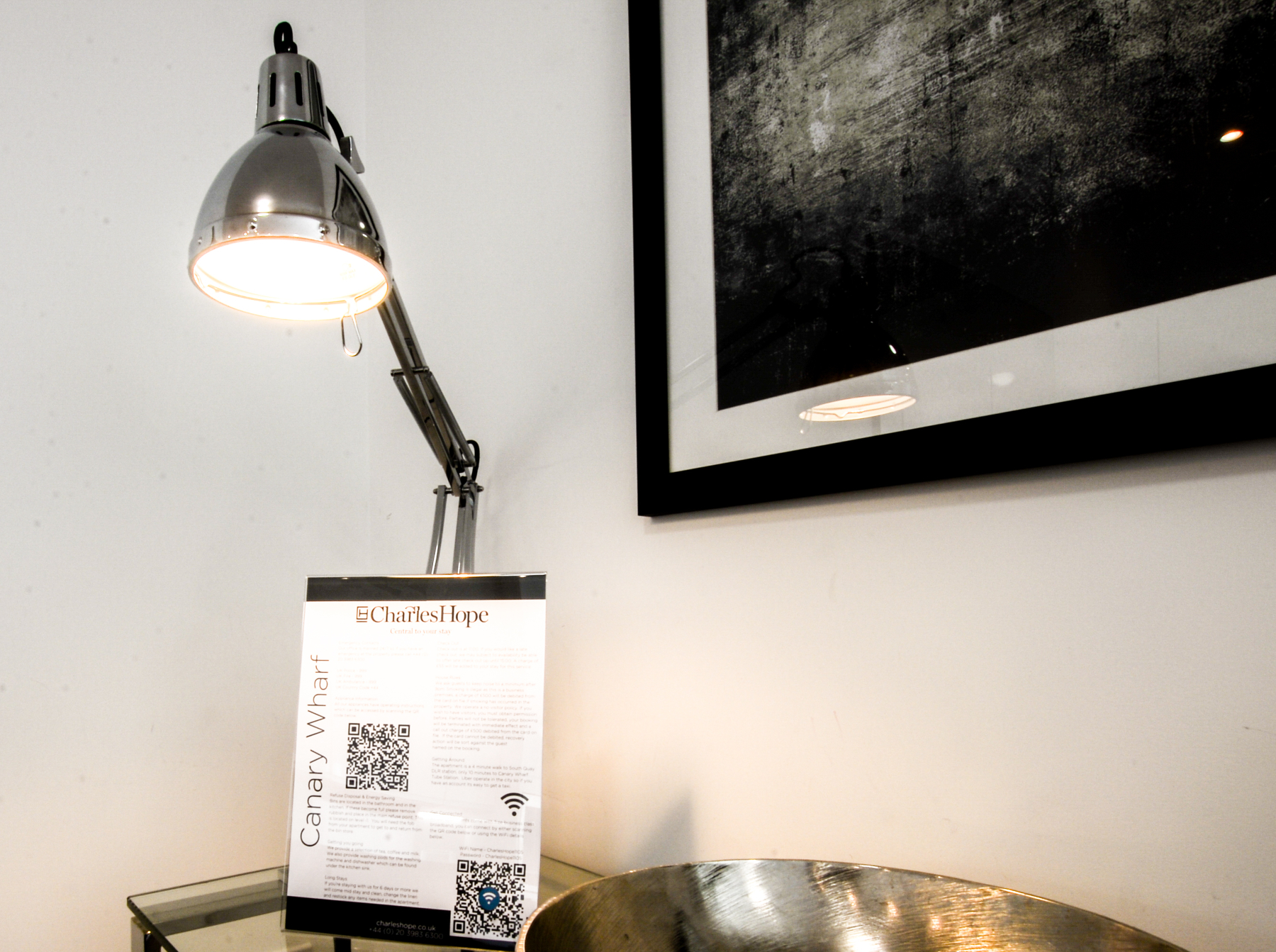 Lamp at Millharbour Apartments, Isle of Dogs, London - Citybase Apartments