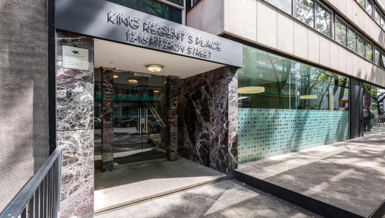 Entrance of King Regents Fitzroy Apartments - Citybase Apartments