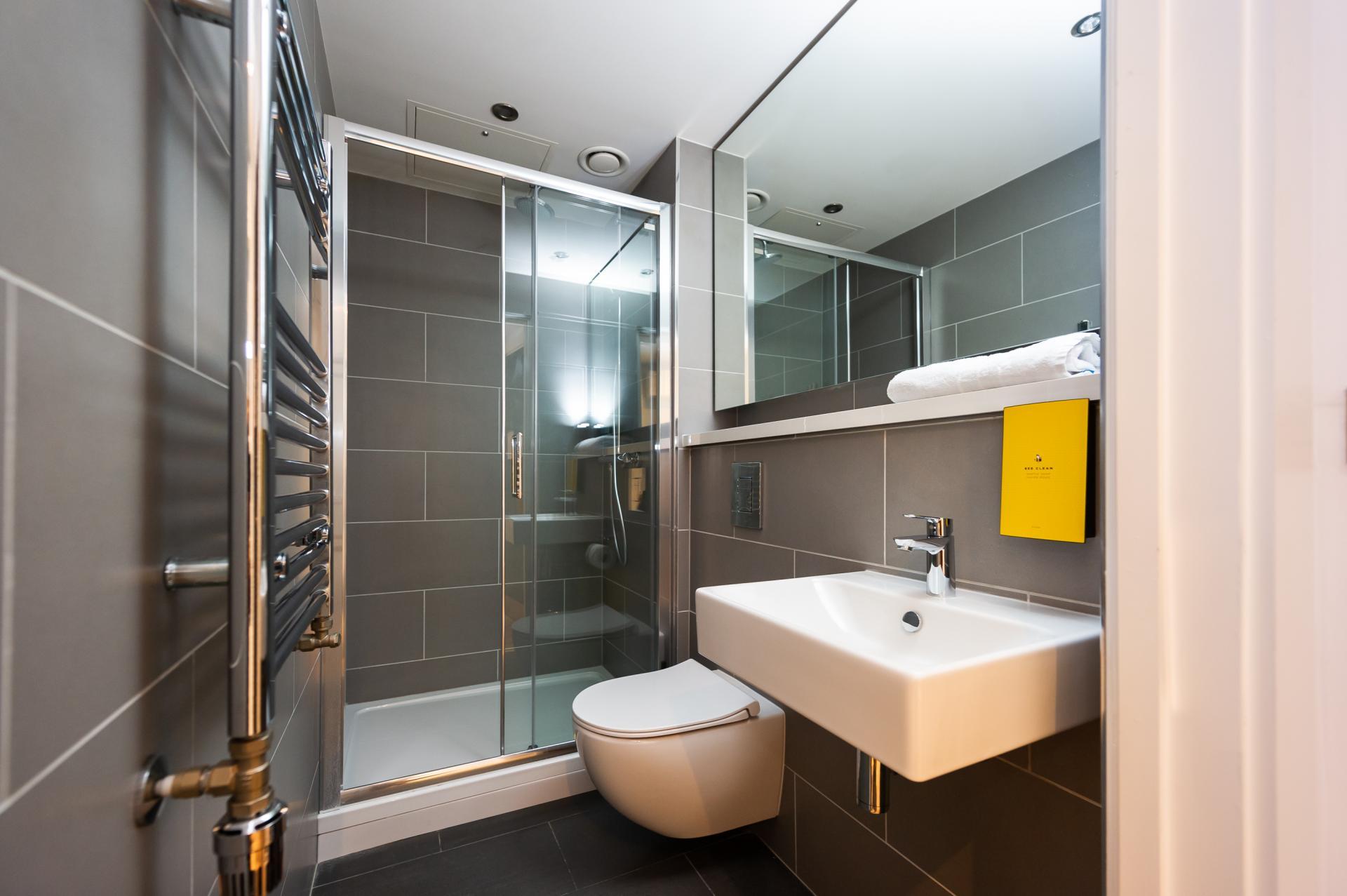Bathroom at Staycity Dublin Christchurch, Centre, Dublin - Citybase Apartments
