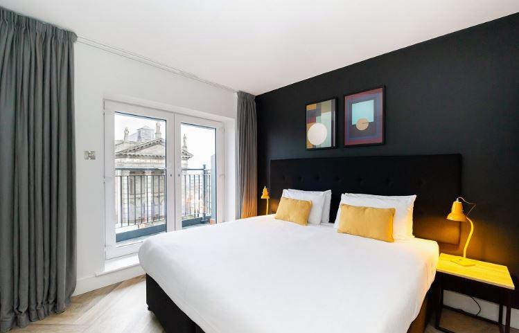 Bright bedroom at Staycity Dublin Christchurch, Centre, Dublin - Citybase Apartments