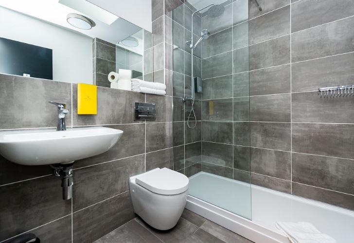 Shower at Staycity Dublin Christchurch, Centre, Dublin - Citybase Apartments
