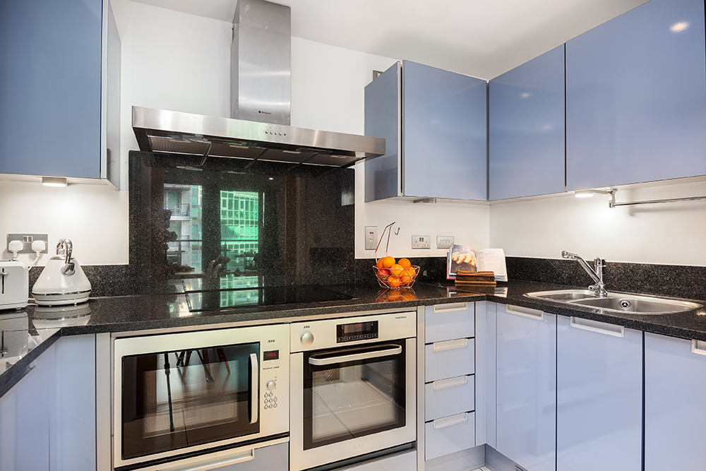 Kitchen at St George's Wharf Serviced Apartments - Citybase Apartments