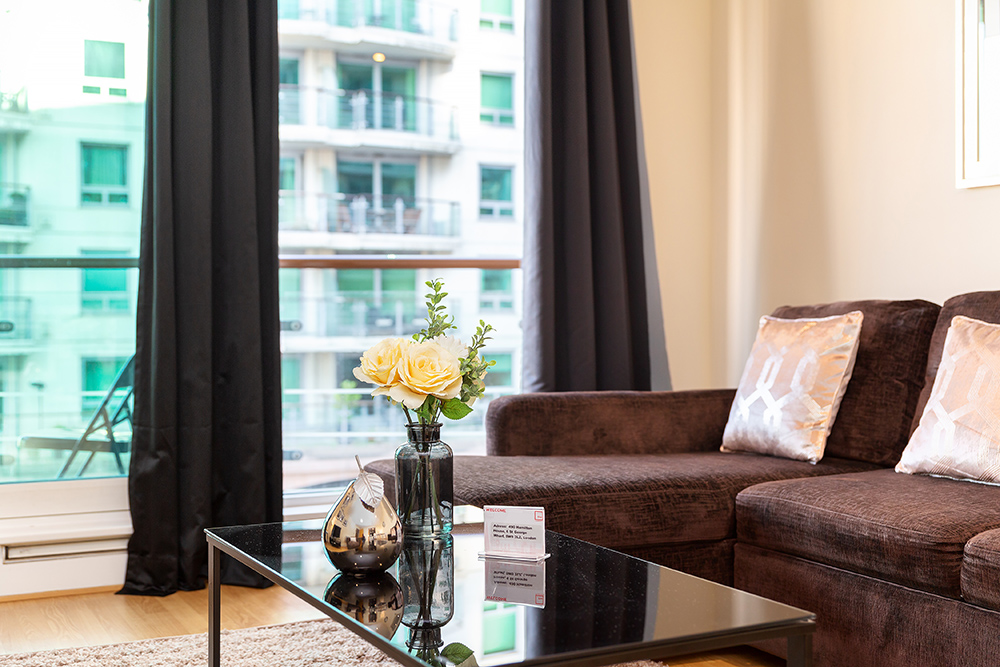 Lounge at St George's Wharf Serviced Apartments - Citybase Apartments