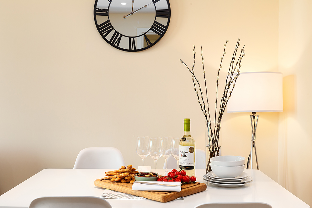 Dining table at St George's Wharf Serviced Apartments - Citybase Apartments