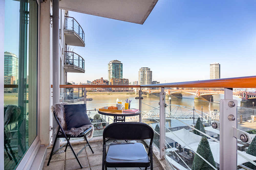 Balcony at St George's Wharf Serviced Apartments - Citybase Apartments