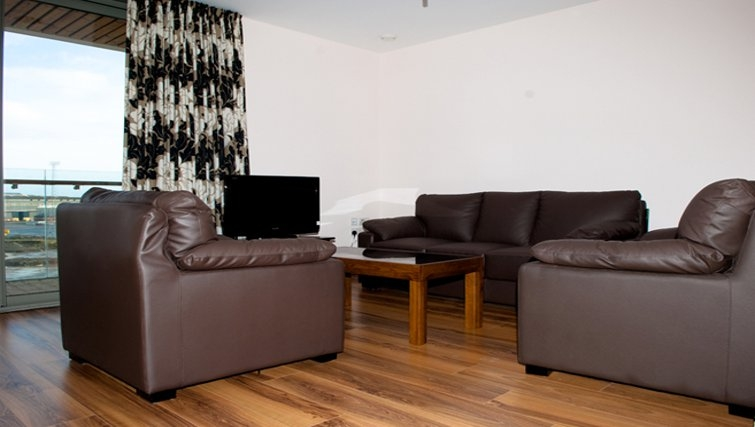 Spacious living area in Titanic Arc Apartment - Citybase Apartments