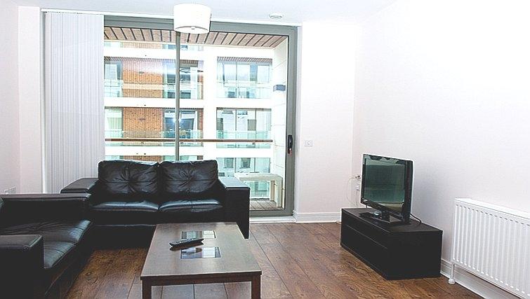 Modest living area in Titanic Arc Apartment - Citybase Apartments