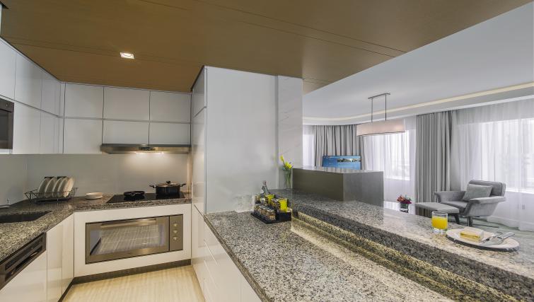 Kitchen at Towers Rotana Apartments - Citybase Apartments