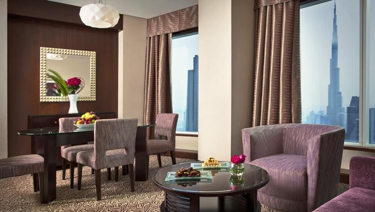 Living area at Rose Rayhaan Apartments - Citybase Apartments