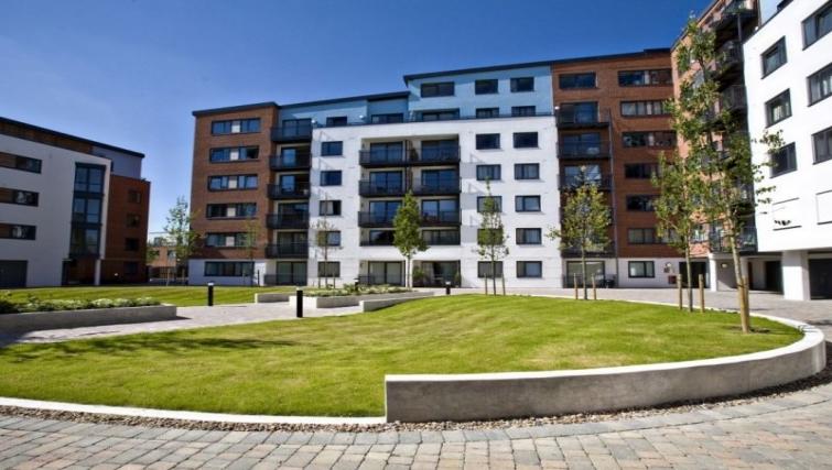 Exterior at The Atrium Apartments - Citybase Apartments