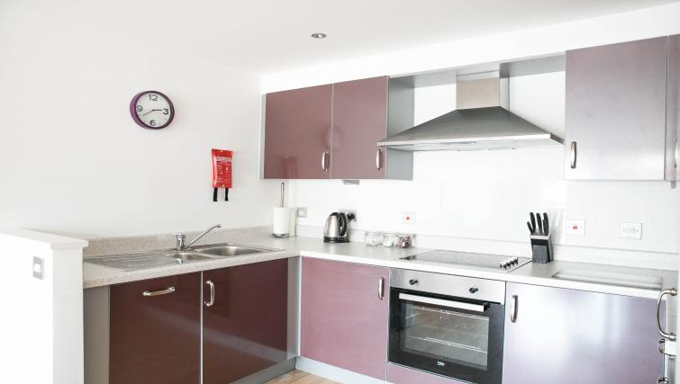 Modern kitchen at The Atrium Apartments - Citybase Apartments