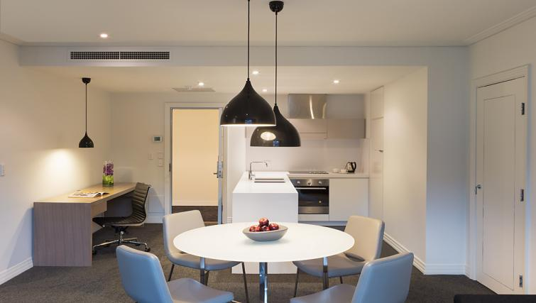 Dining area at The Como Melbourne Apartments - Citybase Apartments