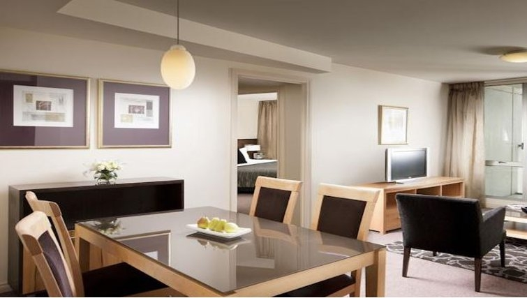 Scenic living area in Quay West Suites Melbourne - Citybase Apartments