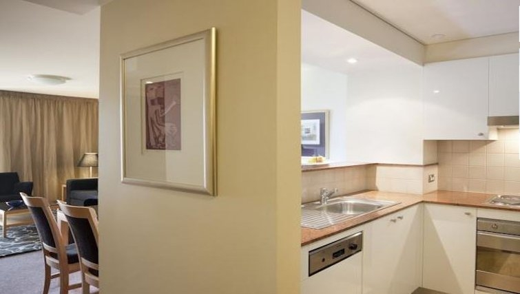 Immaculate kitchen in Quay West Suites Melbourne - Citybase Apartments