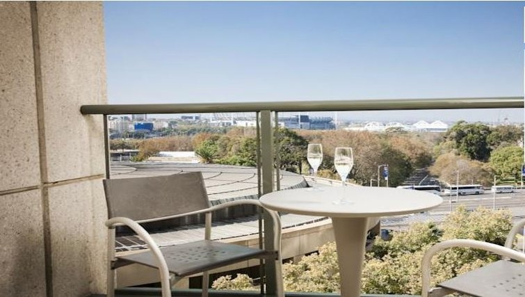 Balcony in Quay West Suites Melbourne - Citybase Apartments