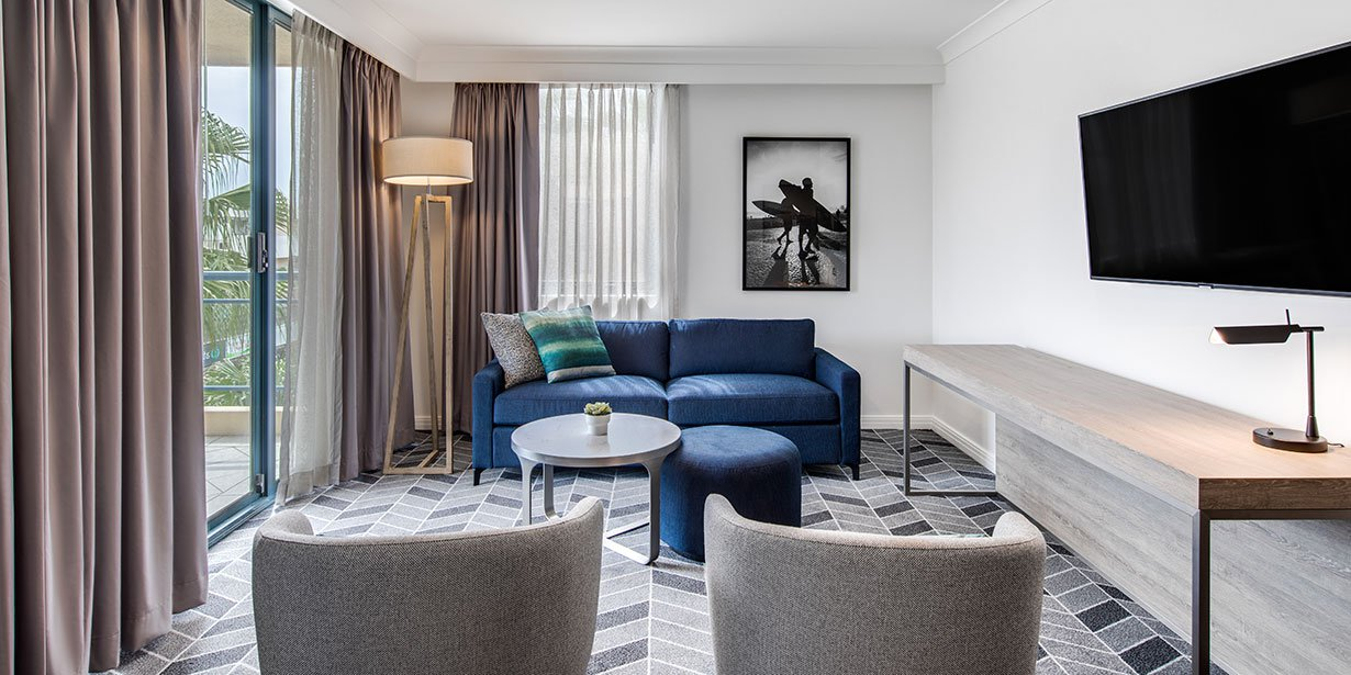 Graceful living area at Adina Apartment Hotel Coogee - Citybase Apartments
