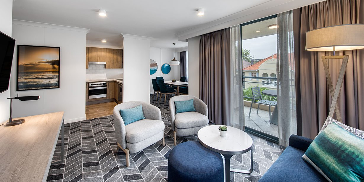 Living area at Adina Apartment Hotel Coogee - Citybase Apartments