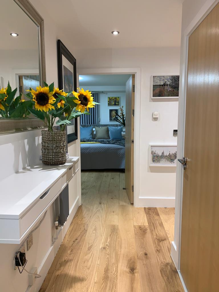 Hall at Millharbour Apartment, Canary Wharf, London - Citybase Apartments