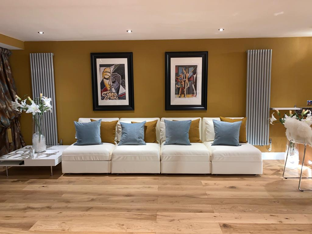Living area at Millharbour Apartment, Canary Wharf, London - Citybase Apartments