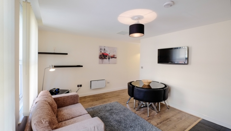 Living area in Hanbury Street Apartments - Citybase Apartments