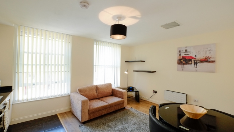 Bright living area in Hanbury Street Apartments - Citybase Apartments