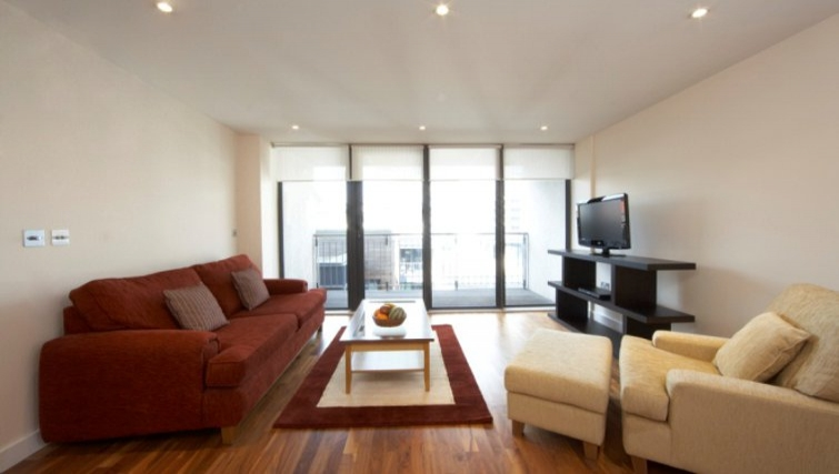 Lovely living area in Marlin Canary Wharf Apartments - Citybase Apartments