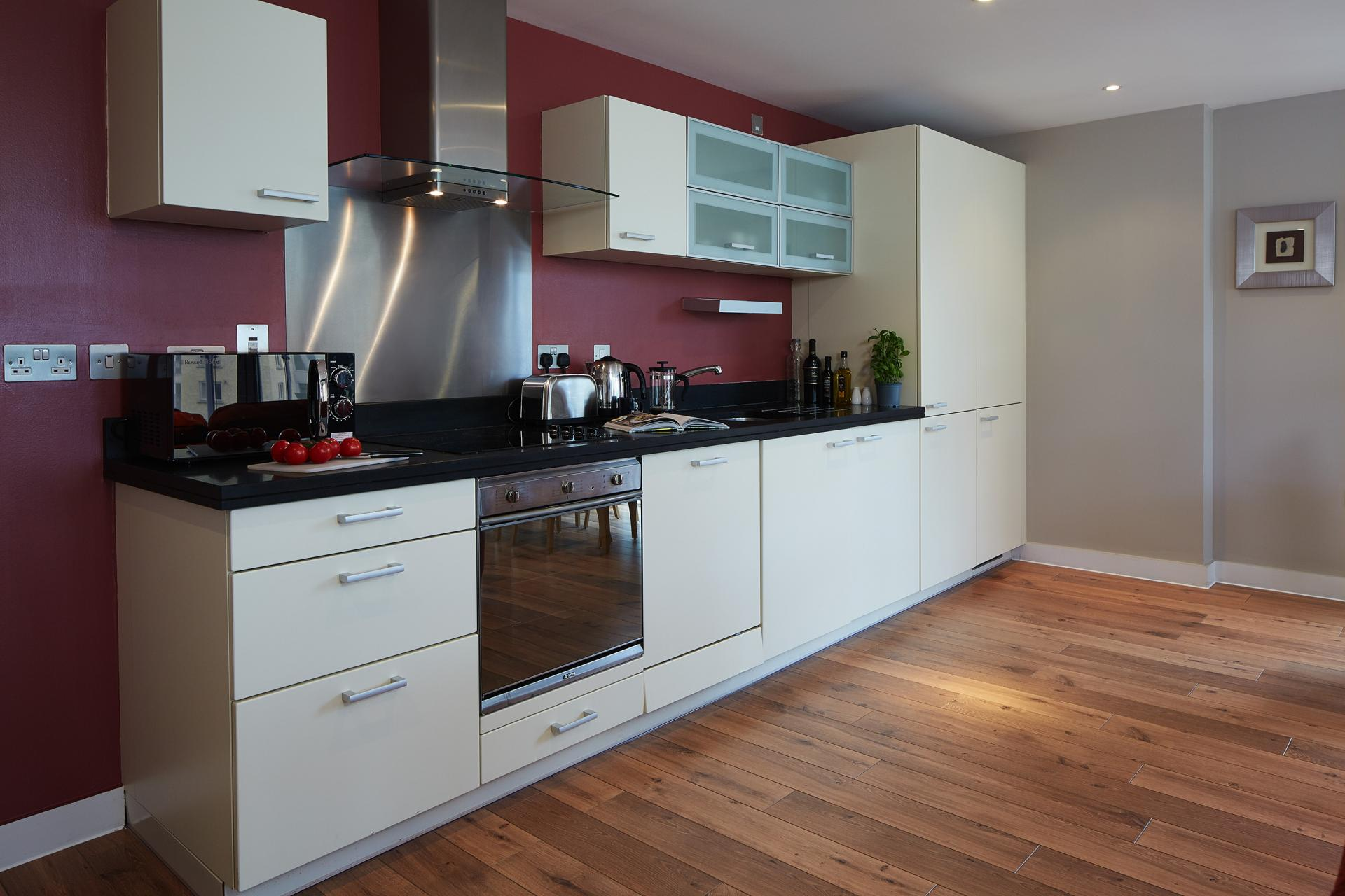 Kitchen at Marlin Canary Wharf Apartments, Canary Wharf, London - Citybase Apartments