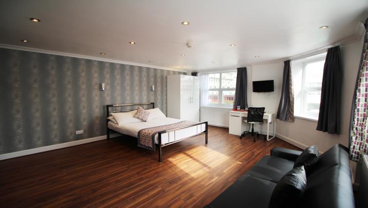 Open plan living area in Croydon High Street Apartments - Citybase Apartments