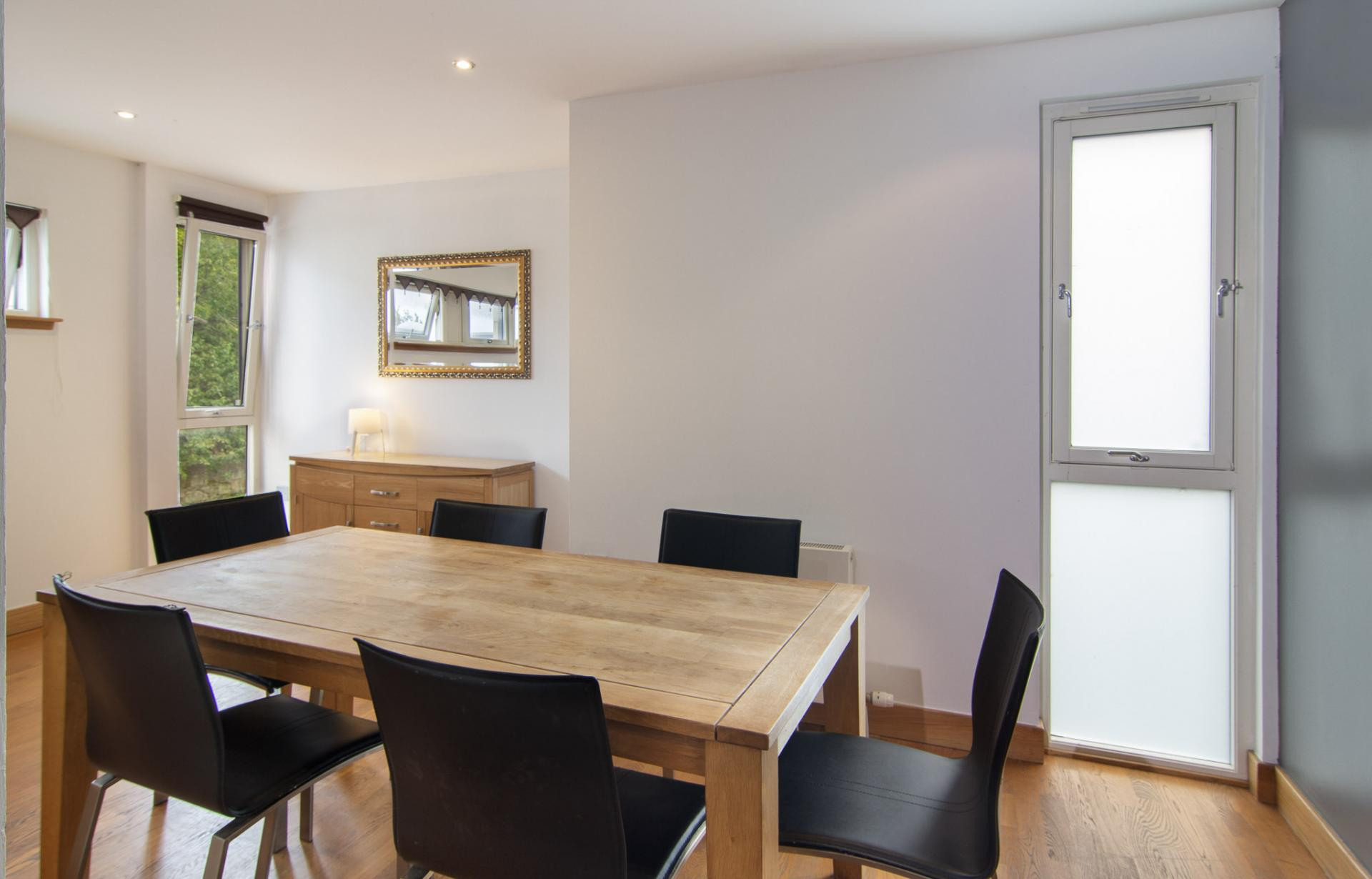 Dining area at Staycity Edinburgh Leamington Wharf, Haymarket, Edinburgh - Citybase Apartments
