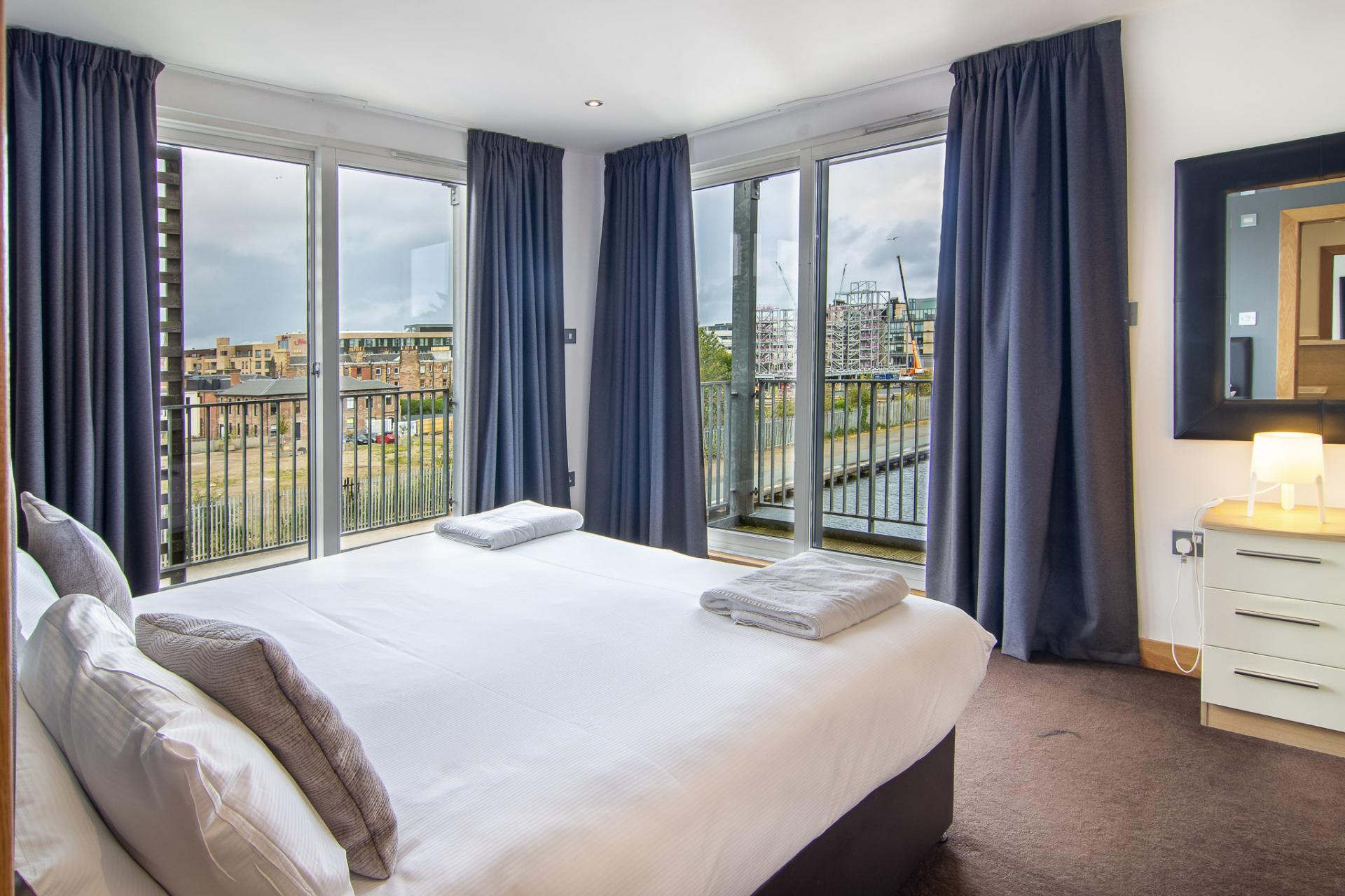 View at Staycity Edinburgh Leamington Wharf, Haymarket, Edinburgh - Citybase Apartments