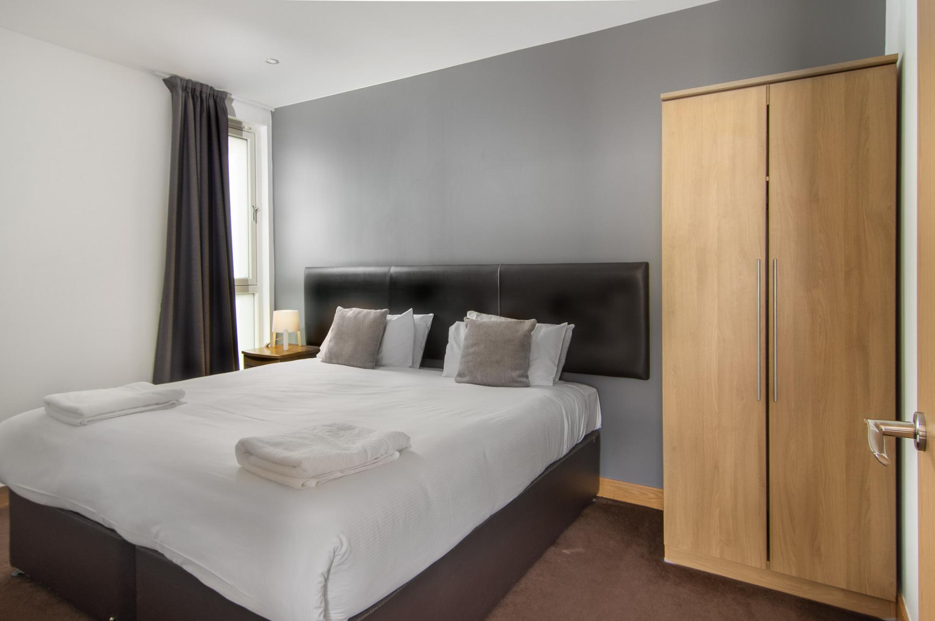 Wardrobe at Staycity Edinburgh Leamington Wharf, Haymarket, Edinburgh - Citybase Apartments