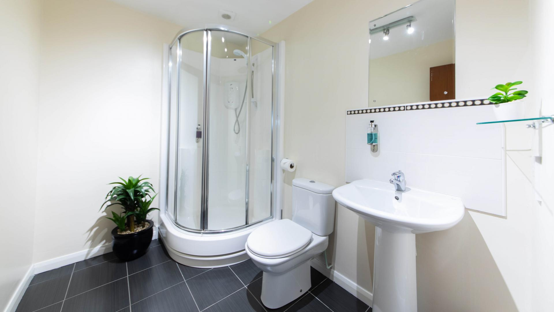Bathroom at The Spires Aberdeen - Citybase Apartments