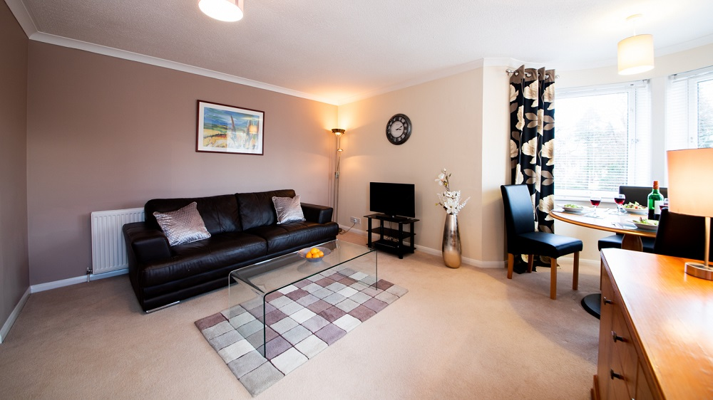 Living room at The Spires Aberdeen - Citybase Apartments