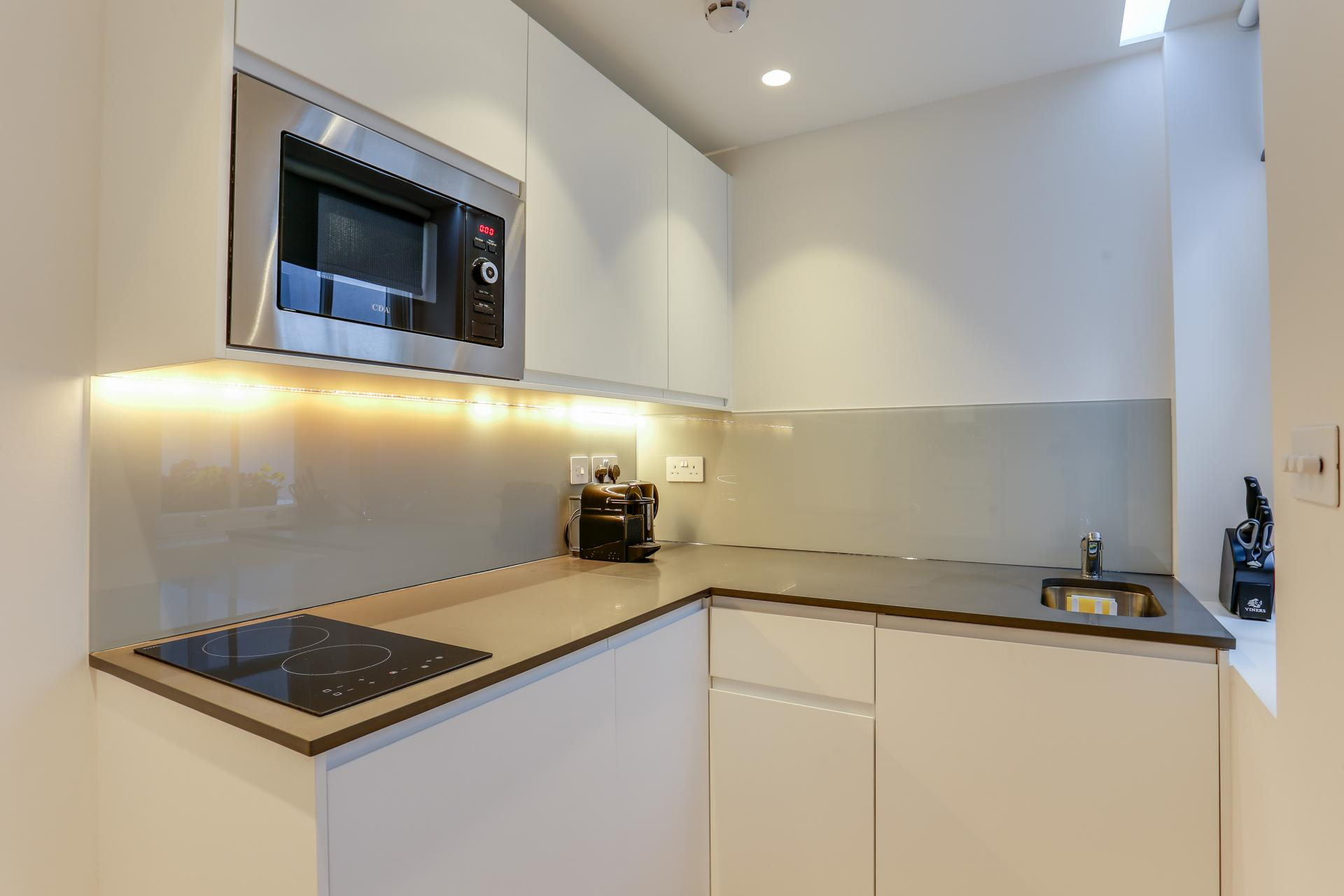 Sleek kitchen at Inverness Terrace Apartments, Bayswater, London - Citybase Apartments