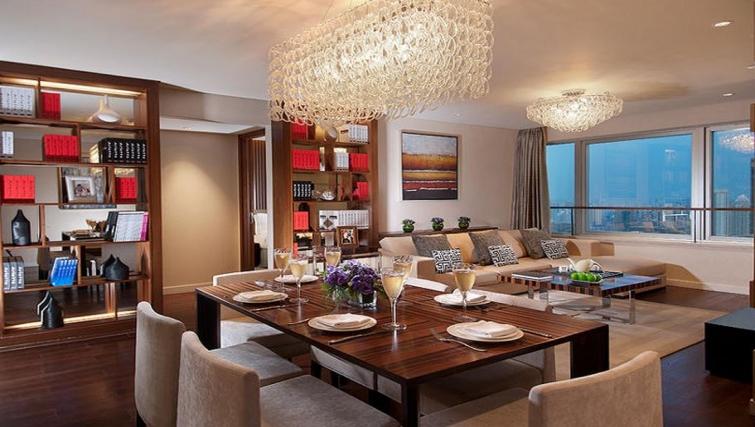 Dining area in Ascott Huai Hai Road Apartments - Citybase Apartments