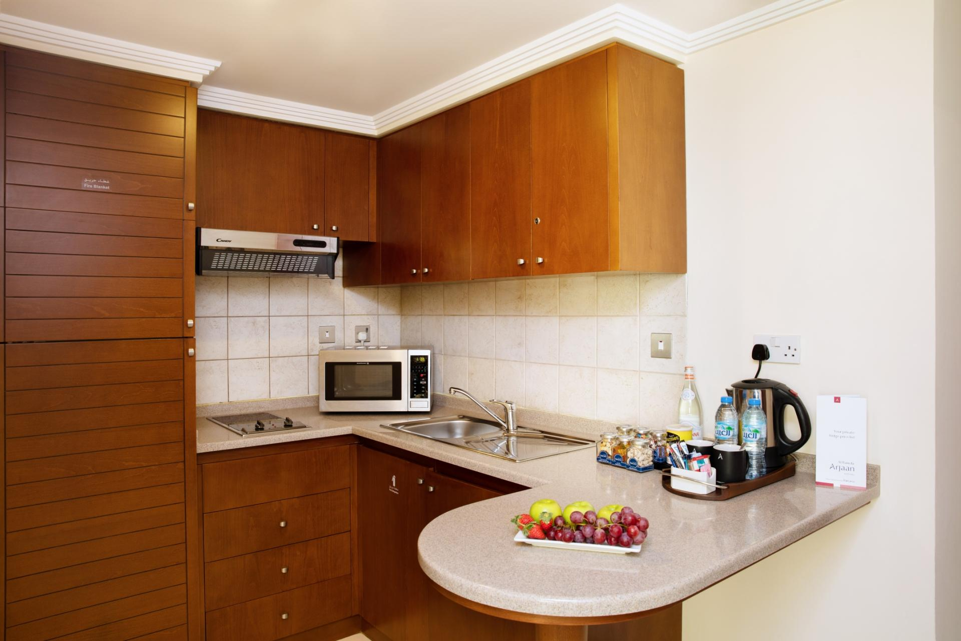 Kitchen in Al Rawda Arjaan Apartments - Citybase Apartments