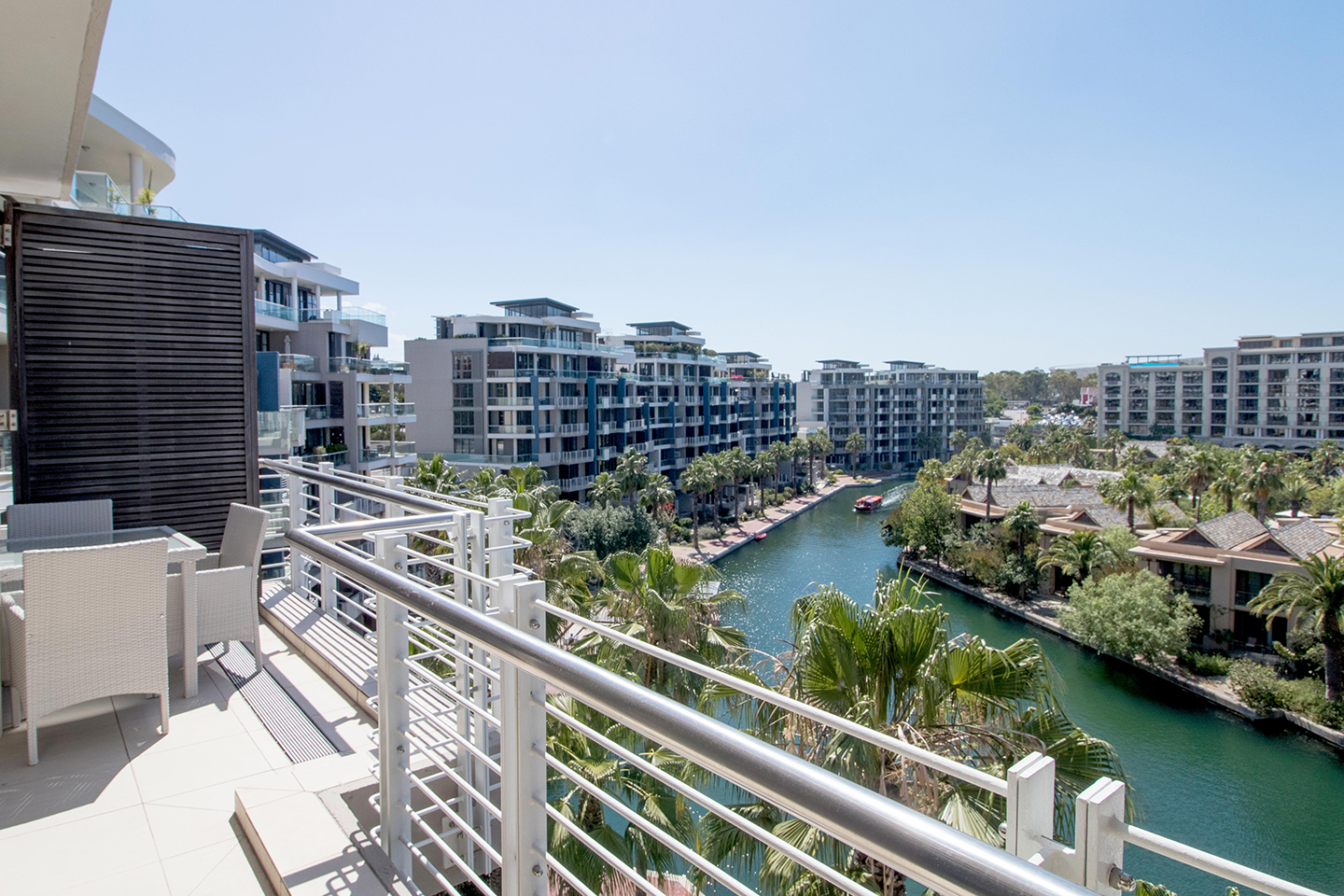 Balcony view at Waterfront Village - Citybase Apartments