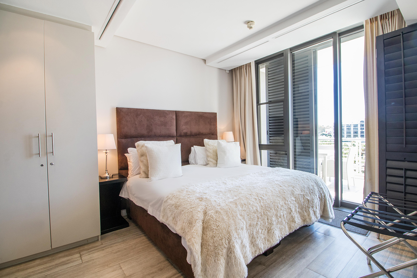 Bedroom at Waterfront Village - Citybase Apartments